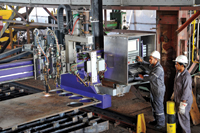 A mass of metal and machines at<BR>an Asry workshop