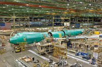 Boeing's factory at Everett, <BR>near Seattle, US