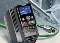 The compact Sinamics G120C inverter from Siemens is now also available with Profinet communication