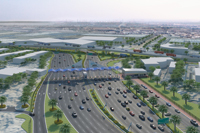 Depiction of Gate 4 development: smoother traffic flows will benefit business
