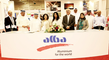 Alba officials at the Invest in Bahrain forum