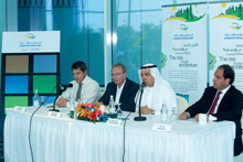 Kalban (second right) and Hanbali (second left) at a press conference to announce the breakthrough