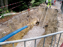 Trenchless rehabilitation of a piping system in Germany with Agru Sureline