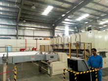 Equipment at an Alyaf production line in Dammam's Second Industrial City
