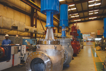 The Masoneilan 41000 series valves were assembled and tested at Darvico