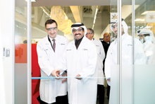 Dr Al Sada opening the Dugutak Core Laboratory