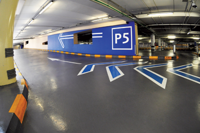 At Dubai Mall more than 500,000 sq m of Flowcrete Middle East's car park coating system was installe