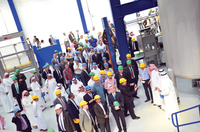 Visitors at the new plant in Jeddah