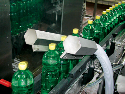 The production line at Elmer Citro has a capacity of 20,000 PET bottles per hour