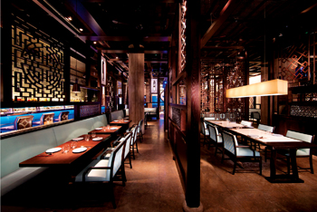 Hakkasan Dubai bedecked with red oak