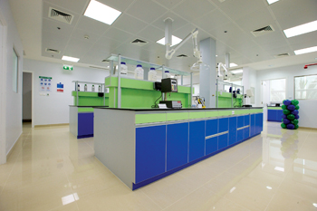A view of the interior of the new laboratory