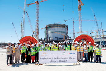 Ducab and Enec officials at a ceremony to mark the delivery