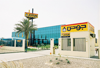 A Jotun facility in the UAE and (right) Kostakopoulos
