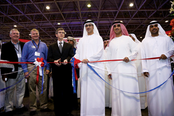 The Sema pavilion at the fifth Middle East Motor Tuning Show being opened at Sharjah Expo Centre