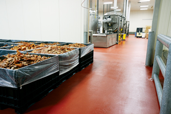 Food production facilities with Flowcrete's flooring solution for a healthy environment