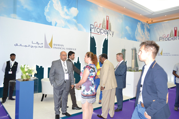 Bahrain Financial Harbour's stall at the Gulf Property Show