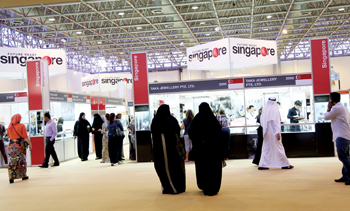 Visitors at the MidEast Watch & Jewellery Show held at Expo Centre Sharjah