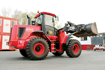 A wheel loader, one of several products Byrne offers