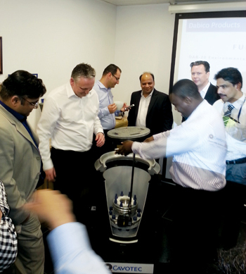 A Cavotec product stirs interest at the Aviation Fuel Symposium in Dubai