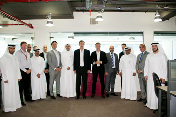 DWC and Ceva officials at the inauguration of Ceva's office