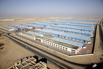 Dubai Industrial City is one of the successful business enclaves in the UAE. Picture shows warehouses in the city