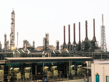 A Qapco production facility in Mesaieed Industrial City