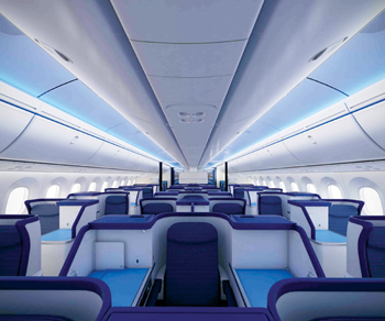 The new Lexan sheets provide new options for aircraft interiors