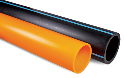PE 100 pipes for gas and water applications