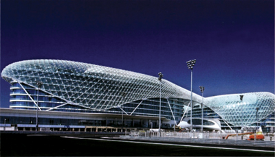 Amgard rails installed at Yas Marina Formula One circuit, Abu Dhabi