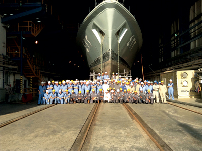 An Asry team on a naval project