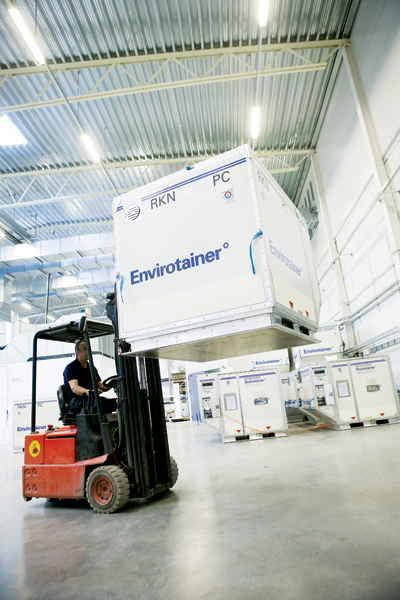 Envirotainer is the global leader in active temperature control for air transportation of temperature-sensitive healthcare products