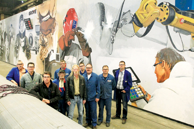 A team of welding engineers at Manitowoc's Wilhelmshaven plant