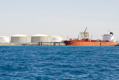Sabic storage tanks at Yanbu Port