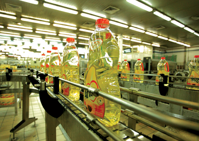 Production at a Savola edible oil plant