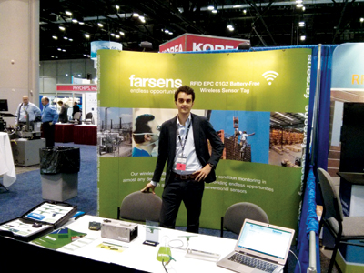 Daniel Pardo, Farsens's general manager, during an RFID Journal Live event in Orlando, Florida, US