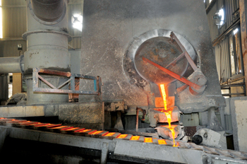 A stage in the alloy-making process