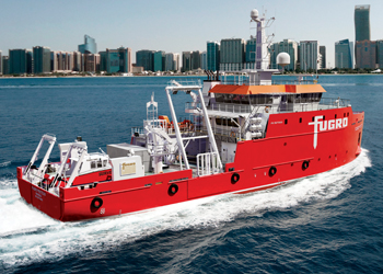The survey vessel Fugro Proteus