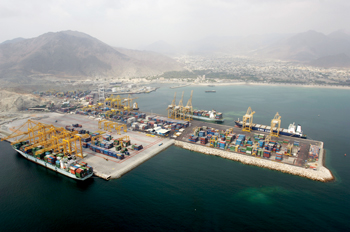Khorfakan Container Terminal managed by Gulftainer