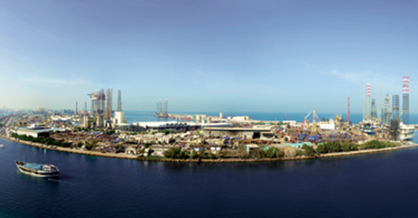 A panoramic view of Lamprell's Sharjah yard
