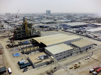 The company's facilities at Jebel Ali