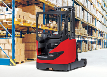 A new Linde reach truck