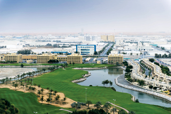 View of an industrial park in the emirate