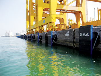 Trelleborg's super cone fenders at Jebel Ali Port