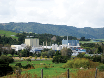 A Fonterra dairy plant in the northern region of New Zealand
