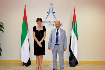 Lu Buchanan, COO, Expo Centre Sharjah (left) with Al Bahri