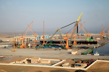 Oman Drydock Company's yard in the central-eastern area of the sultanate