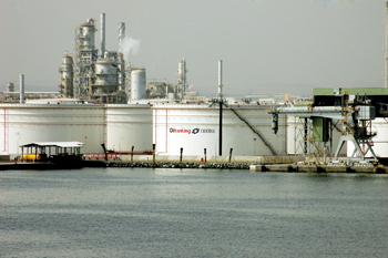 Storage tanks of Oiltanking Odfjell Terminals & Co at Sohar Industrial Port