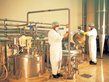 A Spimaco manufacturing unit making syrups