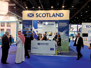 Scottish Development International had a strong presence at the event