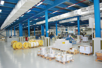 An internal view of the plant. Markets outside the GCC area account for a third of Kimoha's exports